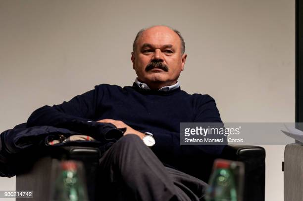 Oscar Farinetti Founder of the Eataly chain during a conference at Tempo di Libri International Fair of Publishing on March 9 2018 in Milan Italy