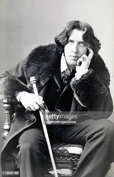 Oscar Fingal O'Flahertie Wills Wilde 1854 to 1900 Irish novelist playwright freemason wit Photograph by Napoleon Sarony