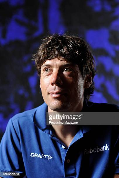 Oscar Freire, professional road race cyclist for team Rabobank, and three time world championship winner. During a portrait shoot for Procycling...