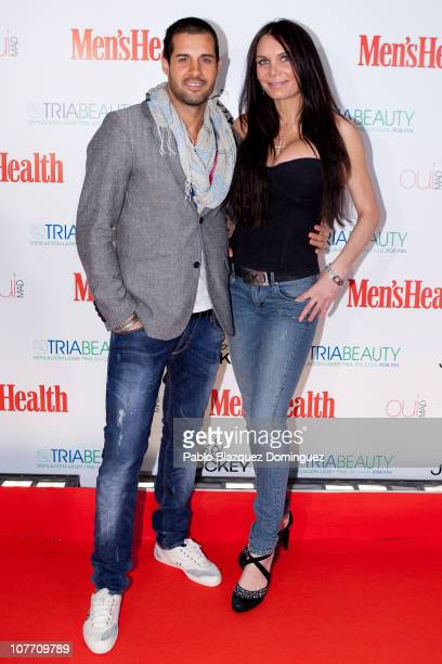 Oscar from Spanish Big Brother and Yola Berrocal attend Men's Health New Face Contest 2010 at Qui Mad on December 20 2010 in Madrid Spain