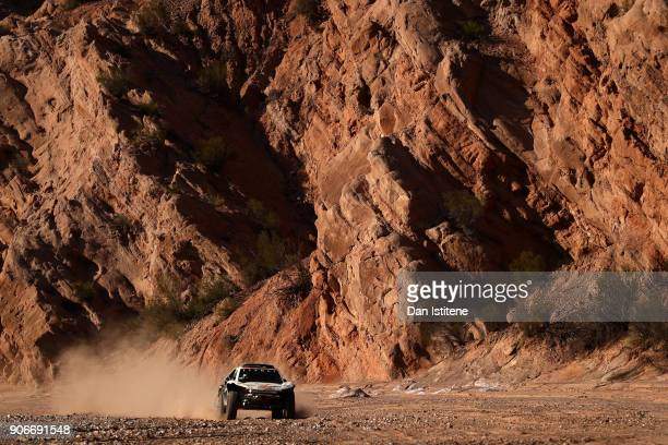 Oscar Fuertes Aldanondo of Spain and Ssangyong drives with codriver Diego Vallejo of Spain in the Ssangyong Tivoli car in the Classe T13 2 Roues...