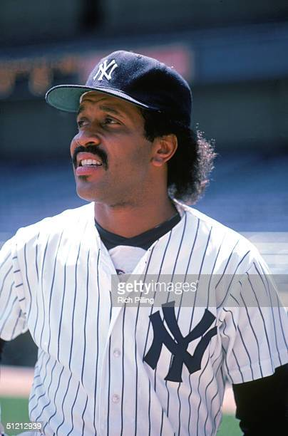 Oscar Gamble of the New York Yankees poses for a portrait in 1982 Oscar Gamble played for the New York Yankees in 1976 and from 19791984
