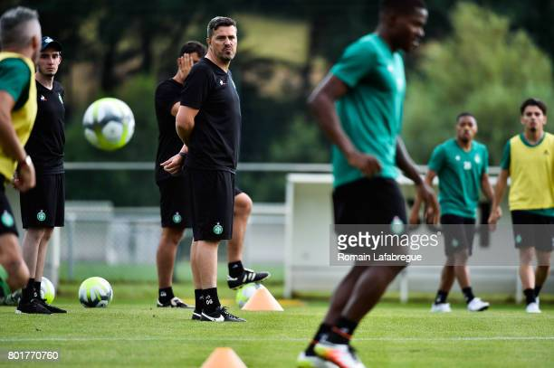 Oscar Garcia of Saint Etienne during Press conference and training session of AS SaintEtienne on June 26 2017 in SaintEtienne France