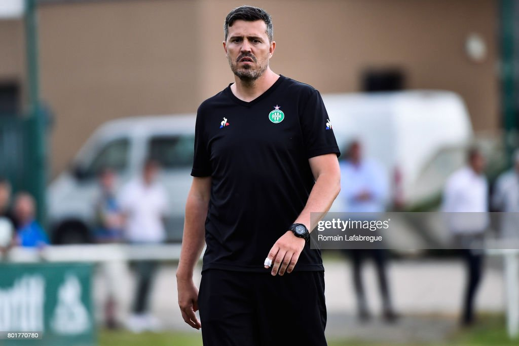 Press conference and training session of AS Saint-Etienne