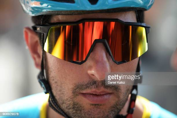 Oscar gatto of Italy and Astana Pro Team looks on prior to stage four of the 2018 Tour Down Under on January 19 2018 in Adelaide Australia