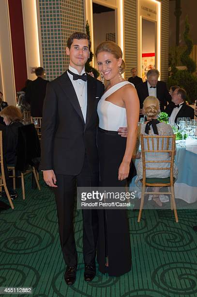 Oscar Graf and Astrid Van Weddingen attend the 27th 'Biennale des Antiquaires' Pre Opening at Le Grand Palais on September 9 2014 in Paris France