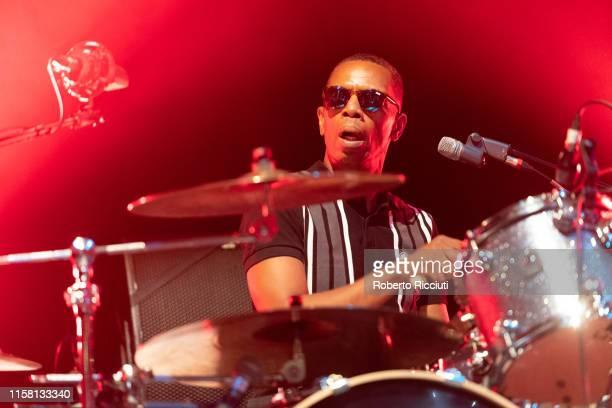 Oscar Harrison of Ocean Colour Scene performs at Usher Hall on July 27, 2019 in Edinburgh, Scotland.