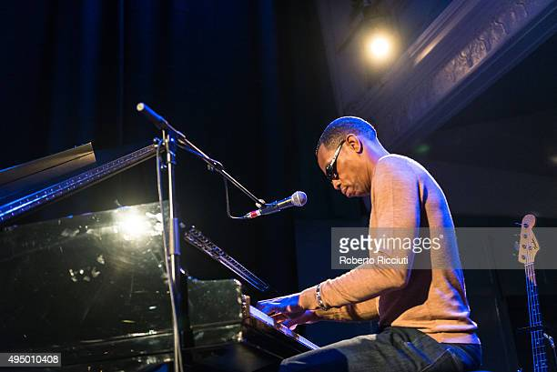 Oscar Harrison of Ocean Colour Scene performs on stage at Queen's Hall on October 30 2015 in Edinburgh Scotland