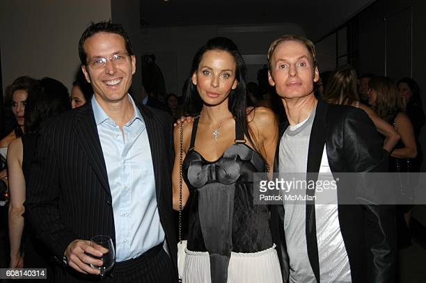 Oscar Hevia Lisa Maria Falcone and Dr Fredric Brandt attend DR FREDRIC BRANDT Celebrates His New Book 10 MINUTES 10 YEARS at The Core Club on April...