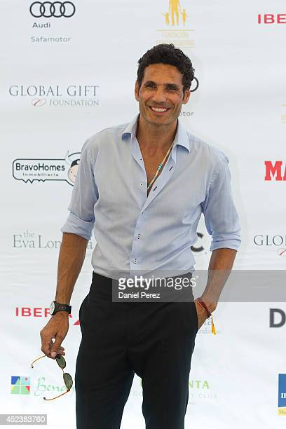 Oscar Higares attends the Global Gift Celebrity Golf Tournament to help raise money for The Eva Longoria Foundation and The Bertin Osborne Foundation...