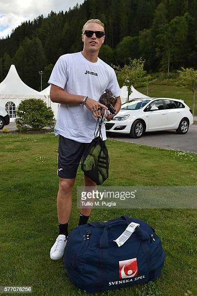 Oscar Hiljemark looks on during a training session at US Citta' di Palermo training base on July 18 2016 in Bad Kleinkirchheim Austria