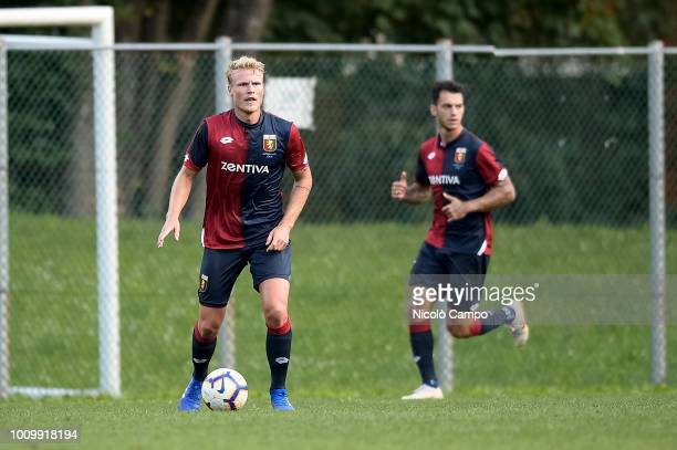Oscar Hiljemark of Genoa CFC in action during the friendly football match between Genoa CFC and Albissola Genoa CFC won 30 over Albissola