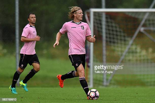 Oscar Hiljemark of Palermo in action during the friendly match between US Citta' di Palermo and Al Wehda at Sportarena on July 27 2016 in Bad...