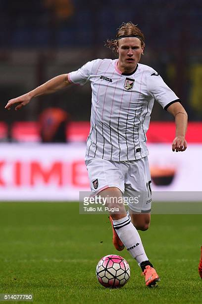 Oscar Hiljemark of Palermo in action during the Serie A match between FC Internazionale Milano and US Citta di Palermo at Stadio Giuseppe Meazza on...