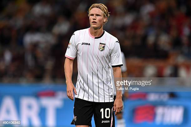 Oscar Hiljemark of Palermo looks on during the Serie A match between AC Milan and US Citta di Palermo at Stadio Giuseppe Meazza on September 19 2015...