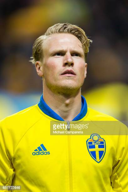 Oscar Hiljemark of Sweden during the FIFA 2018 World Cup Qualifier between Sweden and Belarus at Friends arena on March 25 2017 in Solna Sweden