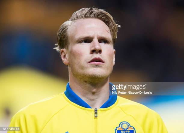 Oscar Hiljemark of Sweden during the FIFA 2018 World Cup Qualifier between Sweden and Belarus at Friends arena on March 25 2017 in Solna