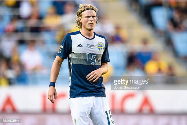 Oscar Hiljemark of Sweden during the international friendly match between Sweden and Slovenia May 30 2016 in Malmo Sweden