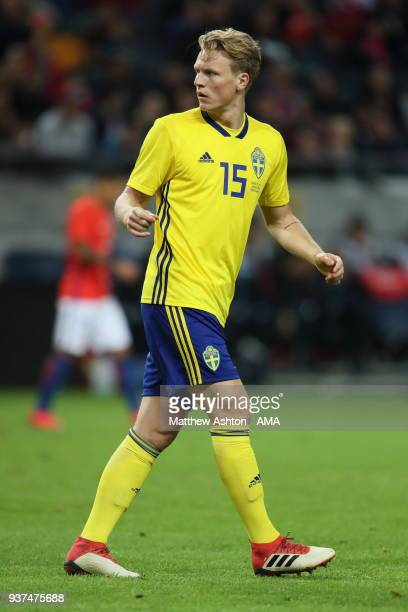 Oscar Hiljemark of Sweden during the International Friendly match between Sweden and Chile at Friends arena on March 24 2018 in Solna Sweden
