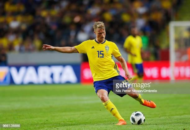 Oscar Hiljemark of Sweden during the International Friendly match between Sweden and Denmark at Friends Arena on June 2 2018 in Solna Sweden
