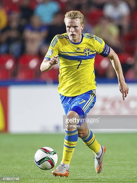 Oscar Hiljemark of Sweden during the UEFA European Under21 Championship final match between Sweden and Portugal on June 30 2015 at the Eden stadium...
