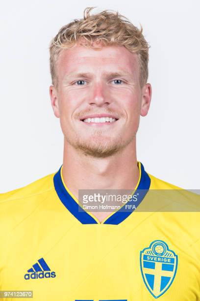 Oscar Hiljemark of Sweden poses during the official FIFA World Cup 2018 portrait session on June 13 2018 in Gelendzhik Russia