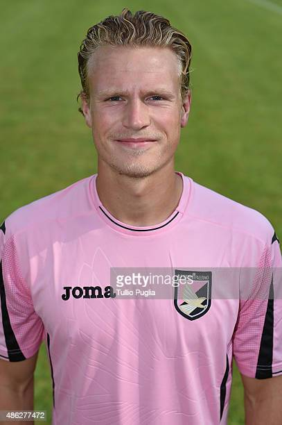 Oscar Hjliemark of US Citta' di Palermo poses for the official headshot on September 2 2015 in Palermo Italy