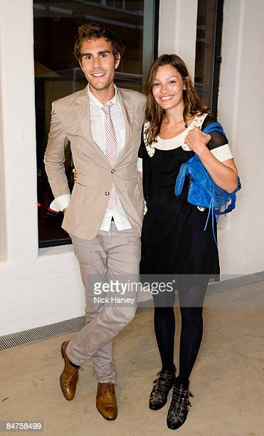 Oscar Humphries and Sarah Philippidis attend The Quintessentially Summer Arts Party at Phillips de Pury & Company on July 9, 2008 in London, England.