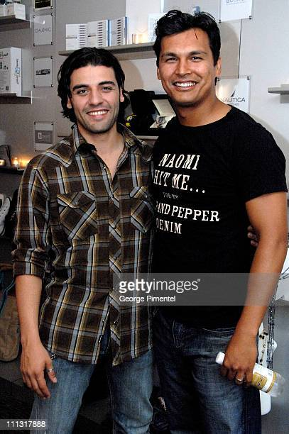 Oscar Isaac and Adam Beach during 31st Annual Toronto International Film Festival eTalk Tastemaker Lounge Sponsored by Flare Magazine Day 5 in...