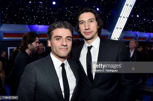 Oscar Isaac and Adam Driver attend the World Premiere of Star Wars The Rise of Skywalker the highly anticipated conclusion of the Skywalker saga on...