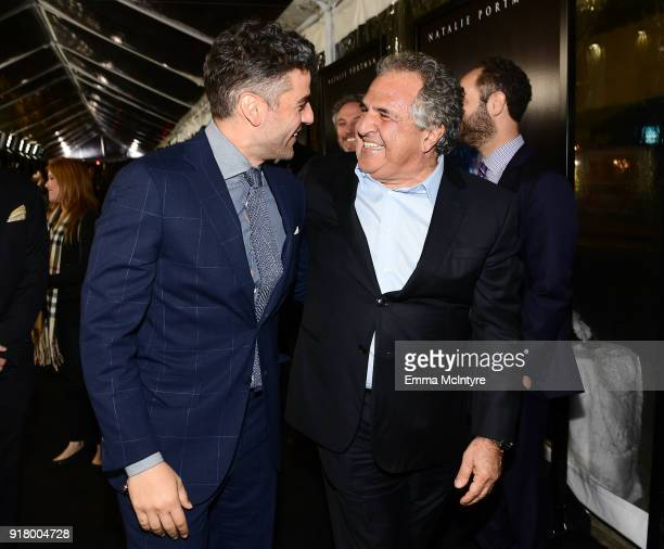 Oscar Isaac and Chairman/CEO of Paramount Motion Picture Group Jim Gianopulos attend the premiere of Paramount Pictures' 'Annihilation' at Regency...