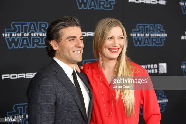 """Oscar Isaac and Elvira Lind arrive for the World Premiere of """"Star Wars: The Rise of Skywalker"""", the highly anticipated conclusion of the Skywalker..."""