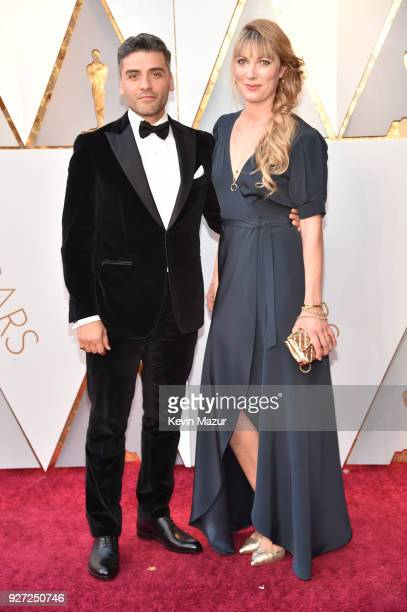 Oscar Isaac and Elvira Lind attend the 90th Annual Academy Awards at Hollywood Highland Center on March 4 2018 in Hollywood California