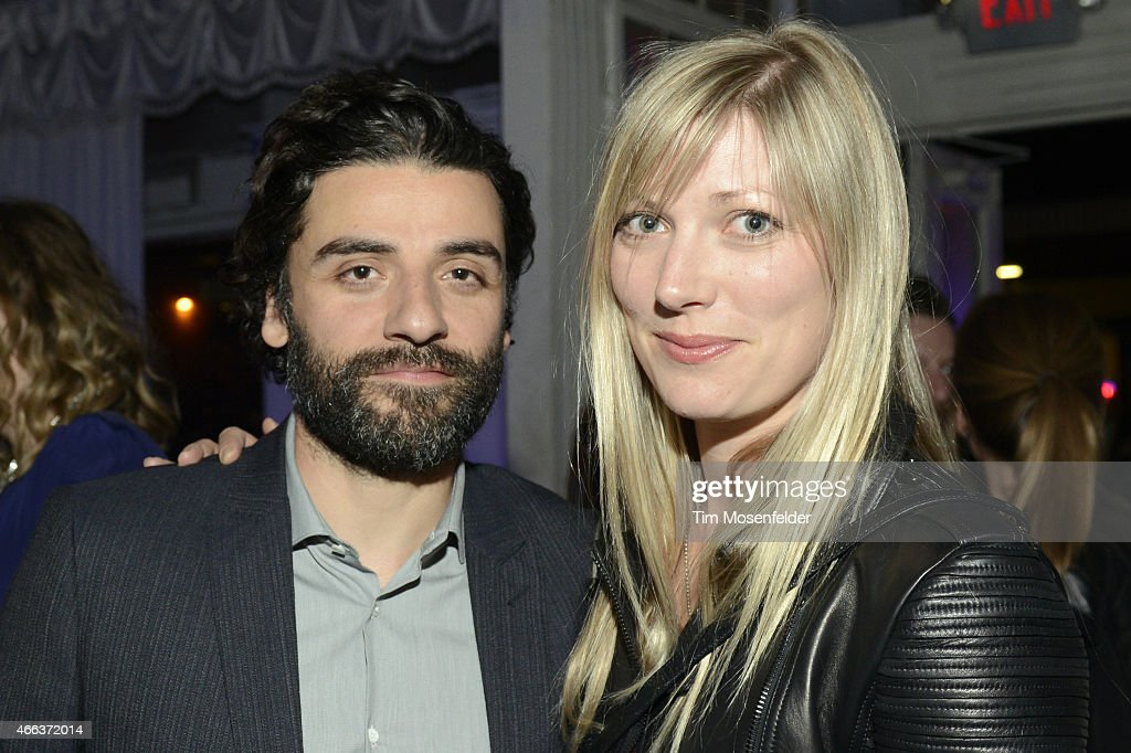 Oscar Isaac (L) and Elvira Lind attend the SXSW 'Ex Machina' Premiere Party at the Swan Dive nightclub on March 15, 2015 in Austin, Texas.