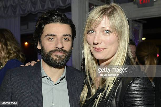 Oscar Isaac and Elvira Lind attend the SXSW 'Ex Machina' Premiere Party at the Swan Dive nightclub on March 15 2015 in Austin Texas