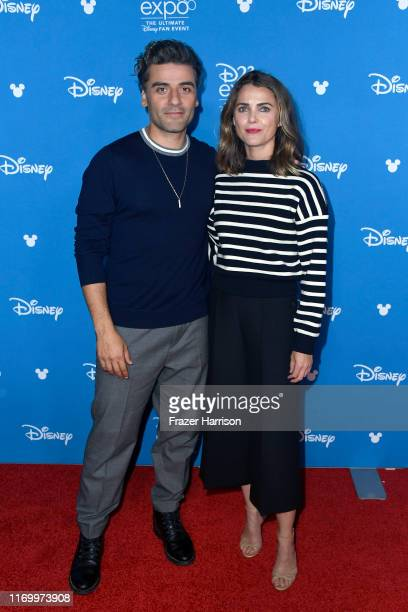 Oscar Isaac and Keri Russell attend Go Behind The Scenes with Walt Disney Studios during D23 Expo 2019 at Anaheim Convention Center on August 24 2019...