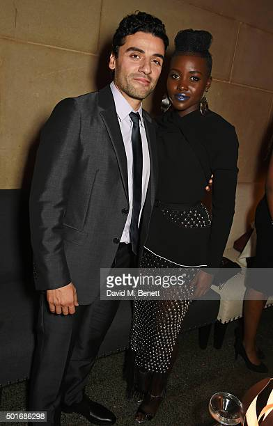 Oscar Isaac and Lupita Nyong'o attend the after party following the European Premiere of 'Star Wars The Force Awakens' at the Tate Britain on...