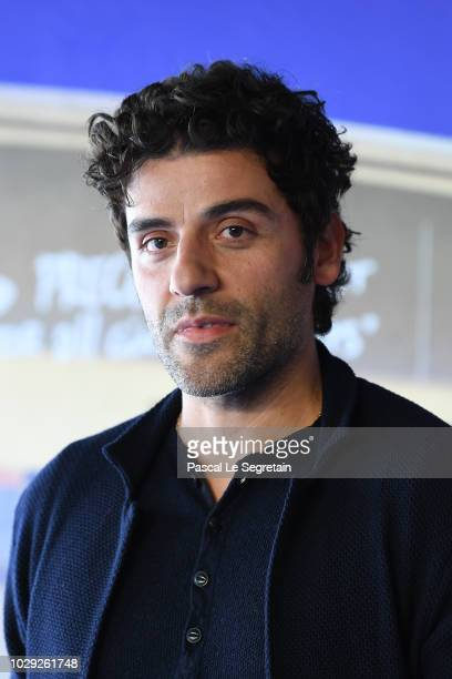 Oscar Isaac attends a photocall for Operation Finale on September 8 2018 in Deauville France