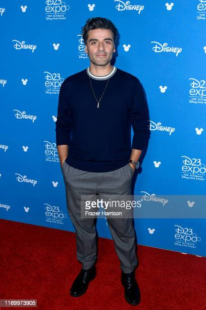 Oscar Isaac attends Go Behind The Scenes with Walt Disney Studios during D23 Expo 2019 at Anaheim Convention Center on August 24 2019 in Anaheim...