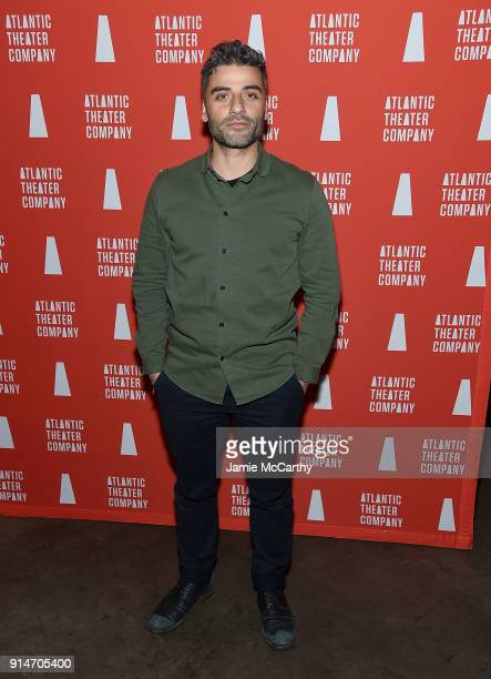 Oscar Isaac attends 'Hangmen' Opening Night After Party at Dream Downtown on February 5 2018 in New York City
