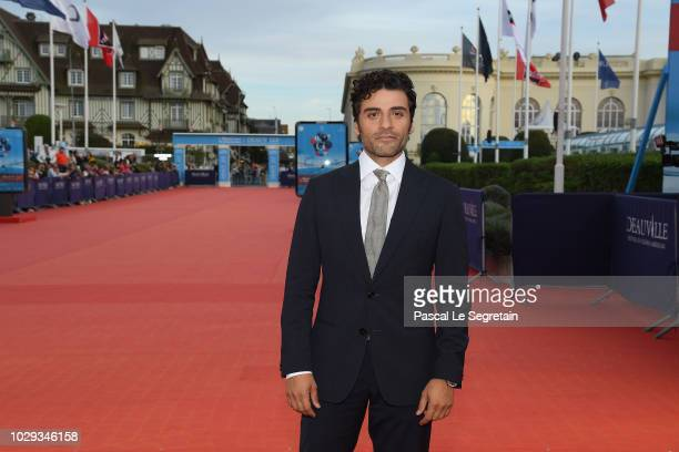 Oscar Isaac attends Operation Finale film Premiere on September 8 2018 in Deauville France