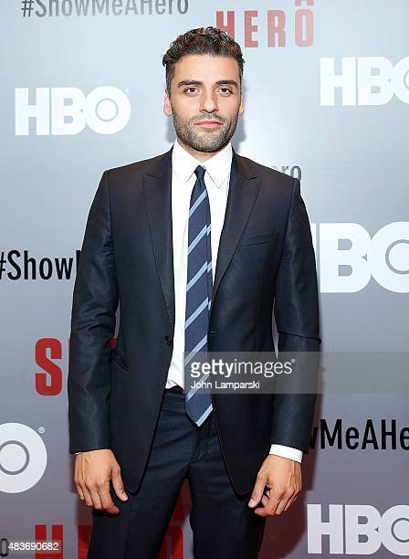 Oscar Isaac attends 'Show Me A Hero' New York Screening at The New York Times Center on August 11 2015 in New York City
