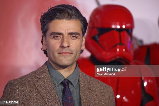 Oscar Isaac attends Star Wars The Rise of Skywalker European Premiere at Cineworld Leicester Square on December 18 2019 in London England