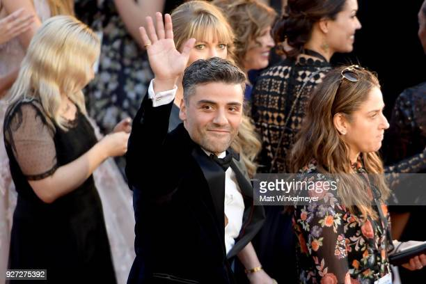 Oscar Isaac attends the 90th Annual Academy Awards at Hollywood Highland Center on March 4 2018 in Hollywood California
