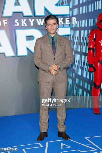 Oscar Isaac attends the European Premiere of Star Wars The Rise of Skywalker at Cineworld Leicester Square on December 18 2019 in London England