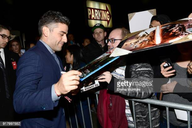 Oscar Isaac attends the premiere of Paramount Pictures' 'Annihilation' at Regency Village Theatre on February 13 2018 in Westwood California