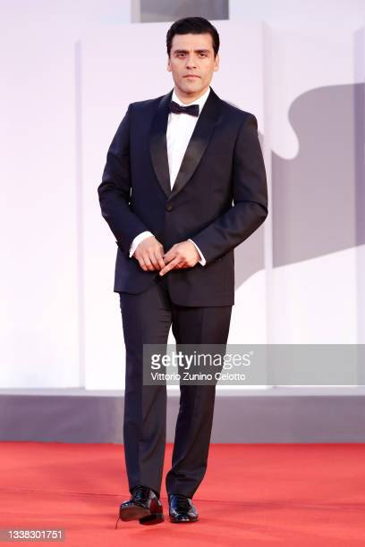 """Oscar Isaac attends the red carpet of the movie """"Scenes From a Marriage """" during the 78th Venice International Film Festival on September 04, 2021 in..."""