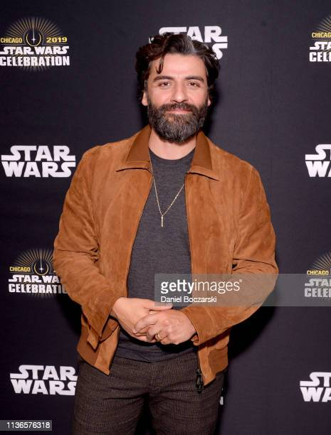 Oscar Isaac attends The Rise of Skywalker panel at the Star Wars Celebration at McCormick Place Convention Center on April 12 2019 in Chicago Illinois
