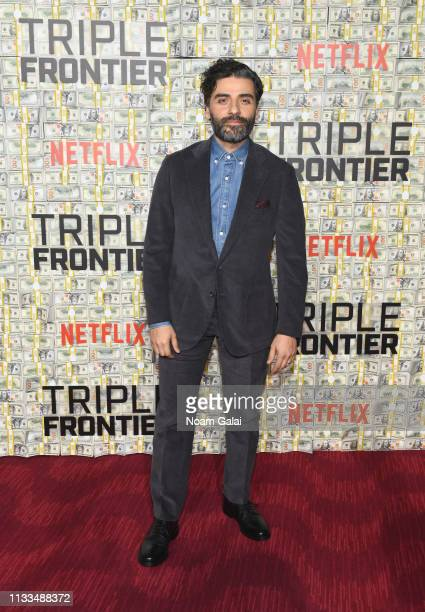 Oscar Isaac attends the Triple Frontier World Premiere at Jazz at Lincoln Center on March 03 2019 in New York City