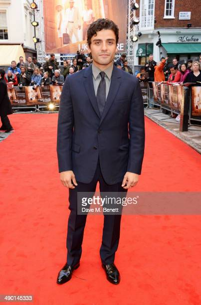 Oscar Isaac attends the UK Premiere of 'The Two Faces Of January' at The Curzon Mayfair on May 13 2014 in London England